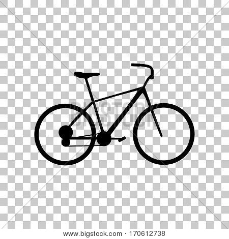 Bicycle, Bike sign. Black icon on transparent background.