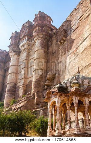 A Stone Mandapa Outside Mehrangarh Fort
