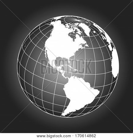 North America Map In Black And White