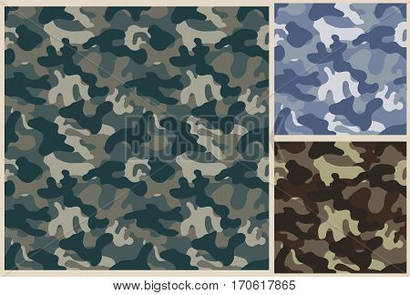 khaki vector pattern background, camouflage seamless texture