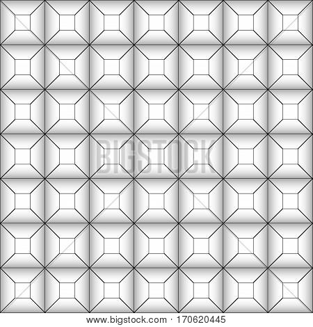 background of the parquet effect of the depth of the tunnel, vector seamless pattern of geometric shapes