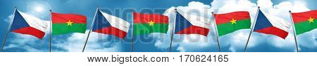 czechoslovakia flag with Burkina Faso flag, 3D rendering