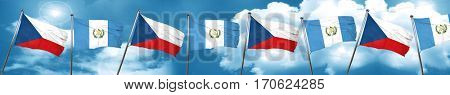 czechoslovakia flag with Guatemala flag, 3D rendering