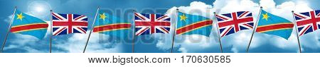 Democratic republic of the congo flag with Great Britain flag, 3