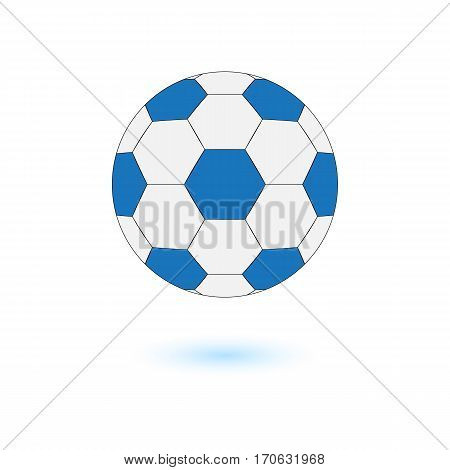 Football vector illustrator icon soccerball blue and grey