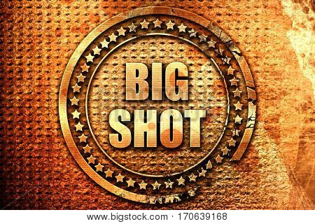 bigshot, 3D rendering, text on metal