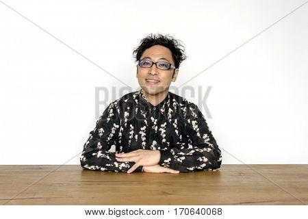 Asian Man Gesture Portrait Studio
