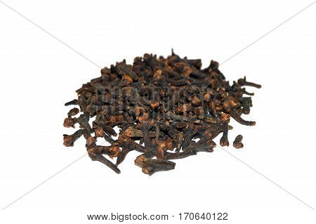 Picture of natural cloves on white background picture