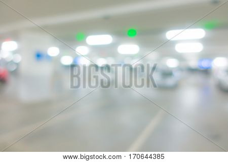 Abstract blur car park background