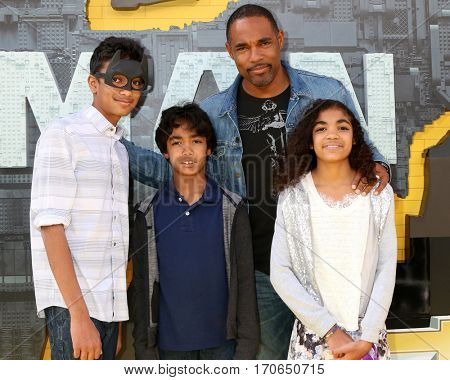 LOS ANGELES - FEB 4:  Jason George, children at the