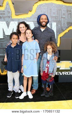 LOS ANGELES - FEB 4:  Ziggy Marley, family at the