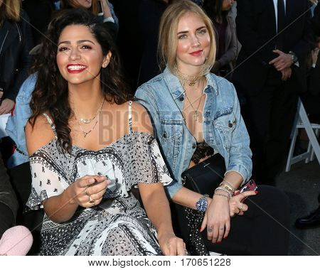 LOS ANGELES - FEB 4:  Camila Alves McConaughey, Chiara Ferragni at the Rebecca Minkoff's