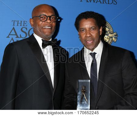 LOS ANGELES - FEB 4: Samuel L. Jackson, Denzel Washington at the 31st Annual American Society Of Cinematographers Awards at Dolby Ballroom  on February 4, 2017 in Los Angeles, CA