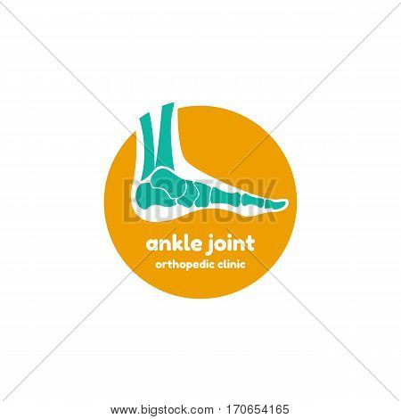 Template logo for ankle joint. Orthopedic clinic logo