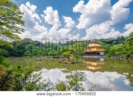 Kinkaku-ji, Temple of the Golden Pavilion in Kyoto, Japan