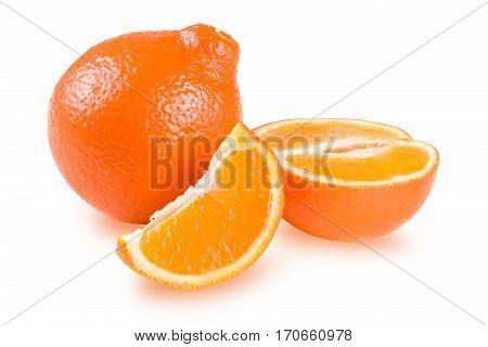 Mandarin or Mineola isolated on white background.