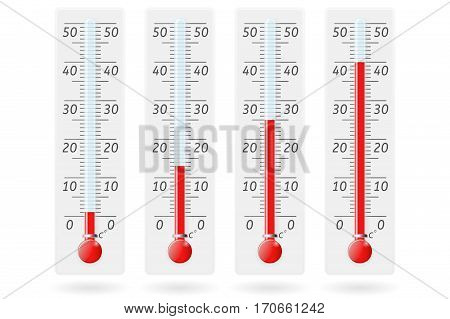 Thermometer. Celsius. Vector illustration isolated on white background