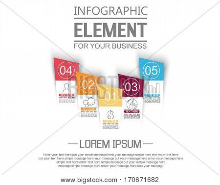 ELEMENT FOR INFOGRAPHIC  TEMPLATE GEOMETRIC FIGURE STIKER NUMBER OPTION TO SCALE THIRD EDITION