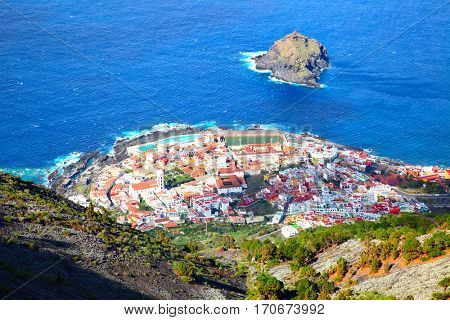 Garachico - small town on the coast of Tenerife island, Canary Islands