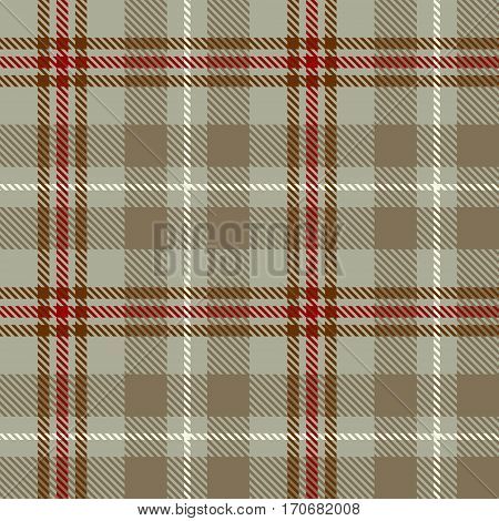 Tartan Seamless Pattern Background. Red Gray White and Beige Plaid Tartan Flannel Shirt Patterns. Trendy Tiles Vector Illustration for Wallpapers