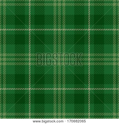Tartan Seamless Pattern Background. Green and Beige Plaid Tartan Flannel Shirt Patterns. Trendy Tiles Vector Illustration for Wallpapers.