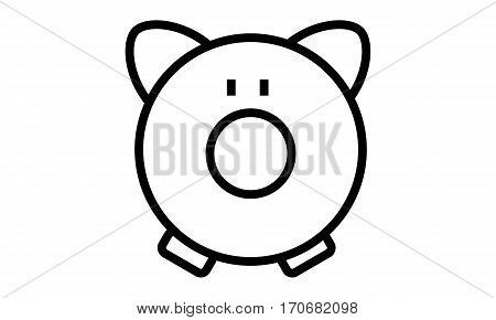 Pictogram - Piggy Bank, Piggybank, Pig, Save money, Savings, Savings box - Object Icon Symbol