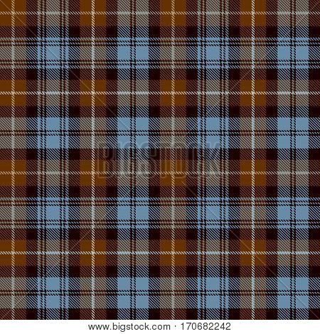 Tartan Seamless Pattern Background. Brown Black Beige and Blue Plaid Tartan Flannel Shirt Patterns. Trendy Tiles Vector Illustration for Wallpapers.