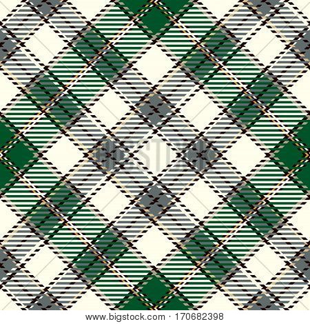 Tartan Seamless Pattern Background. Green Black Camel Beige and White Plaid Tartan Flannel Shirt Patterns. Trendy Tiles Vector Illustration for Wallpapers.