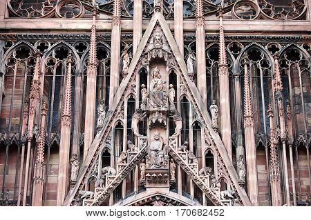 The Notre Dame Cathedral In Strasbourg, Alsace, France