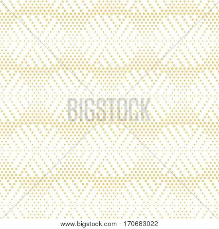 Seamless pattern. Stylish modern small dotted texture. Regularly repeating dotted hexagons triangles. Vector abstract seamless background. Contemporary design