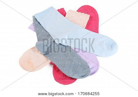 Women's Socks Isolated On White Background