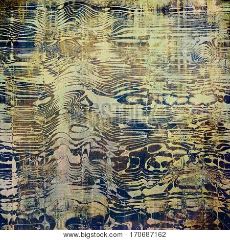Abstract grunge background or old texture. With different color patterns: yellow (beige); brown; gray; blue