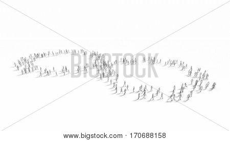perpetual walking life concept 3d rendering image