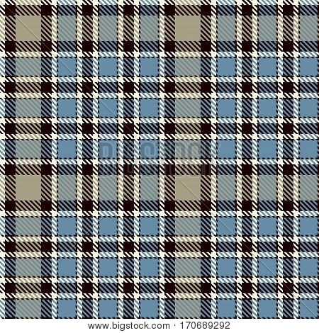 Tartan Seamless Pattern Background. Blue Black Beige and White Plaid Tartan Flannel Shirt Patterns. Trendy Tiles Vector Illustration for Wallpapers
