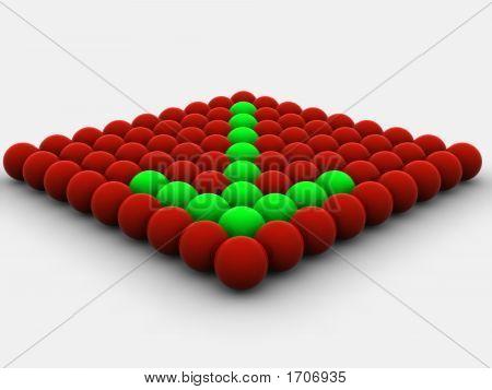 Arrow From Spheres