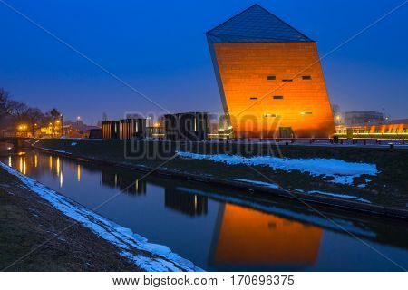 GDANSK, POLAND - FEBRUARY 2, 2017: The Museum of the Second World War in Gdansk, Poland. The Museum main exhibition covering an area of about 5,000 square metres.