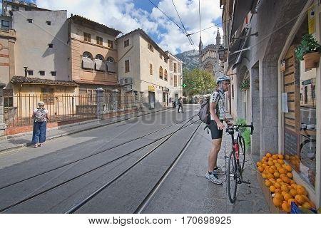Soller Bicyclist Oranges  Church