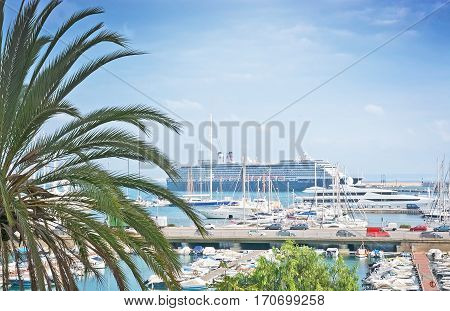Harbor View With Ferry Boat