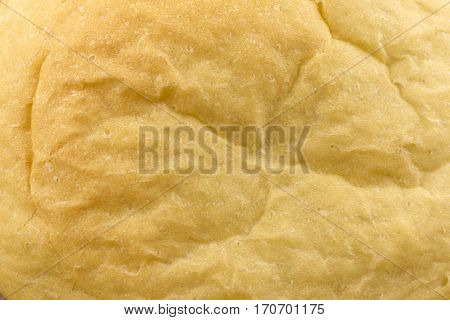 Closeup crust of bread. Bread as background. View from above