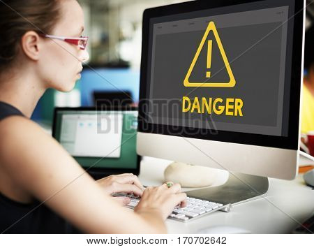 Danger ALert Warning Notification Beware Reminder Exclamation Concept