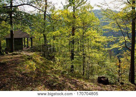 Shed over Devil's pulpit  - marvellous view of Račí údolí valley