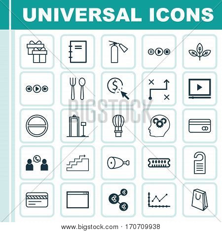 Set Of 25 Universal Editable Icons. Can Be Used For Web, Mobile And App Design. Includes Elements Such As Solution, Sprout, Phone Conference And More.