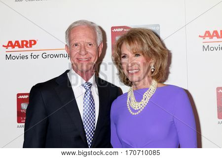 LOS ANGELES - FEB 6:  Chesley Sullenberger, Lorrie Sullenberger at the AARP Movies for Grownups Awards at Beverly Wilshire Hotel on February 6, 2017 in Beverly Hills, CA