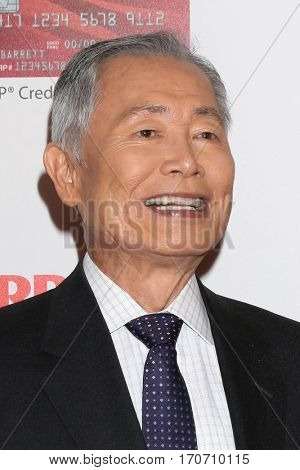 LOS ANGELES - FEB 6:  George Takei at the AARP Movies for Grownups Awards at Beverly Wilshire Hotel on February 6, 2017 in Beverly Hills, CA