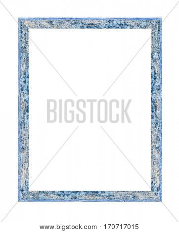 Wooden frame isolated on white -Clipping Path