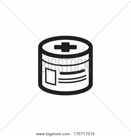 Pharmaceutical Drugs and Medical Services Icon. Flat Design. Isolated.