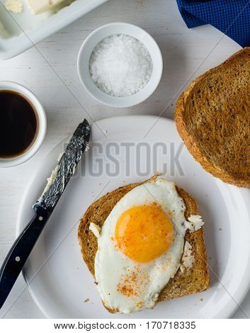 Toast With Egg Sunny Side Up