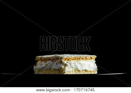 Cream Pie With Layers Of Puff Pastry