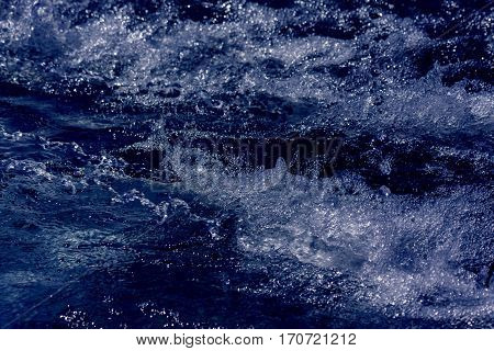 Wild water and air bubbles as a texture