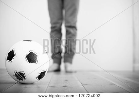 Soccer Ball On A Wood Floor